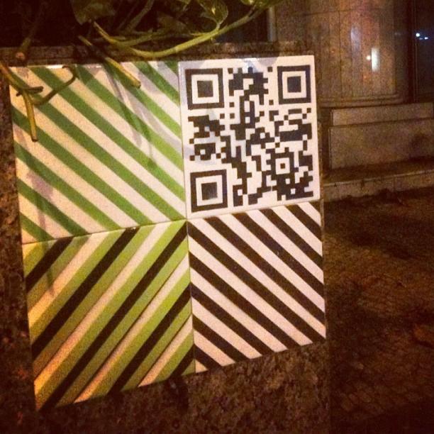 Qrcode! #MUDA #ColetivoMUDA #azulejo #tile #streetart