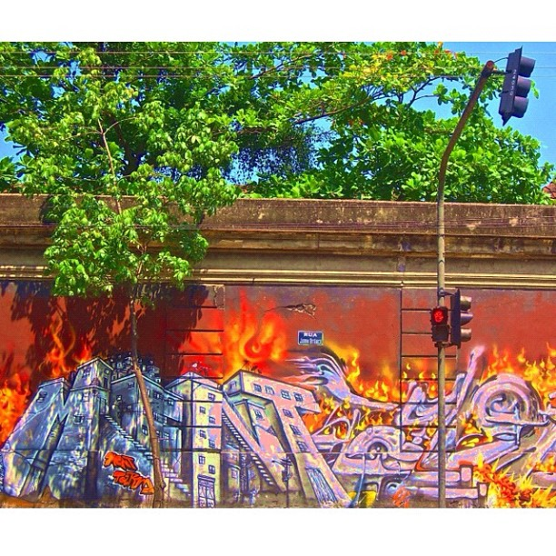Jockey Club's Wall II - When in Rio and if you like Grafite Art you must see! @marceloment
