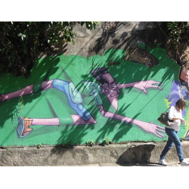 Grafite do artista @marceloeco em Sta Teresa
