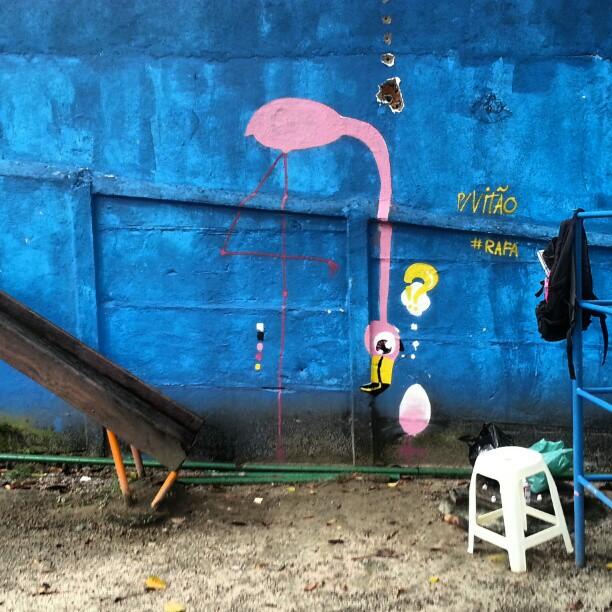 @bes4ever pra você é pro Vitão! #rafa #flamingo #graffiti #sabadodemanhacrew #rosa #pink #filhote #sobrinho