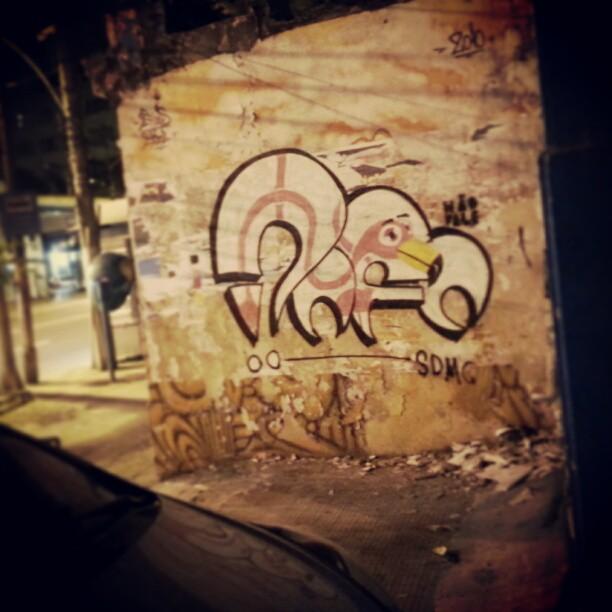 Agora eles sabem meu nome. #rafa #sabadodemanhacrew #SDMC #graffiti #flamingo #tijuca #odeioessescartazes