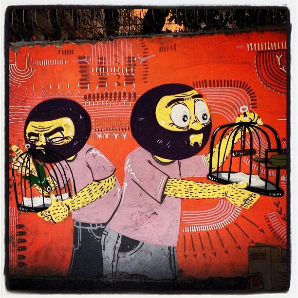 O muro do dia: solte o passarinho! Bicho bom é bicho livre! #grafite #riodejaneiro # murosdacidade