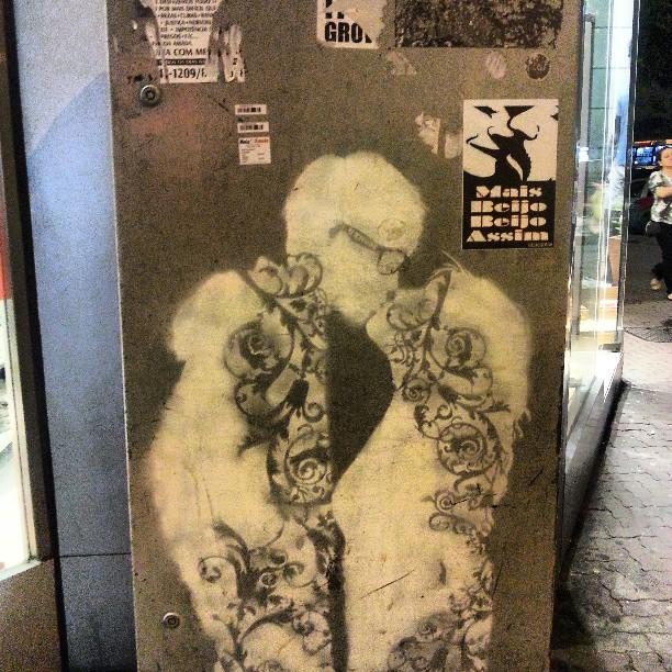 #beijo #artenarua #streetart #streetartrio #kiss