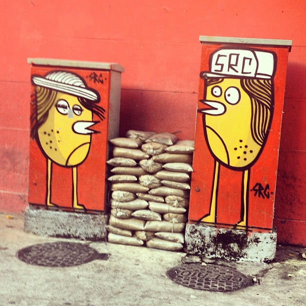Colorindo a rua. #murosdorio #grafite