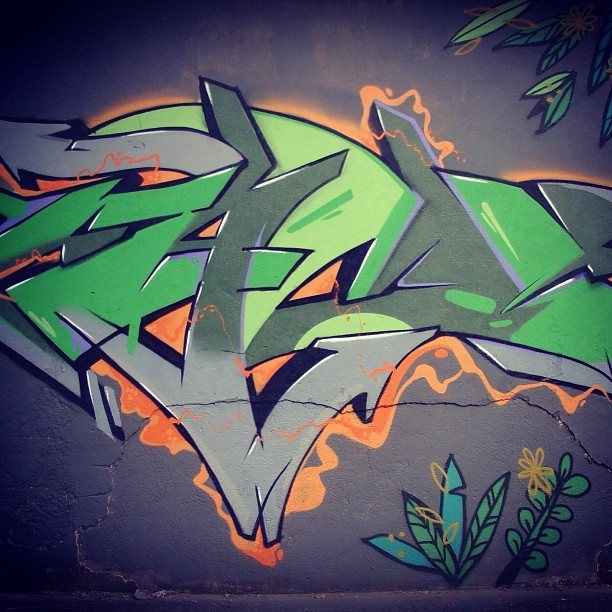 #graffiti #betofame #riodejaneiro #loveleter #green #desenho #tijuca
