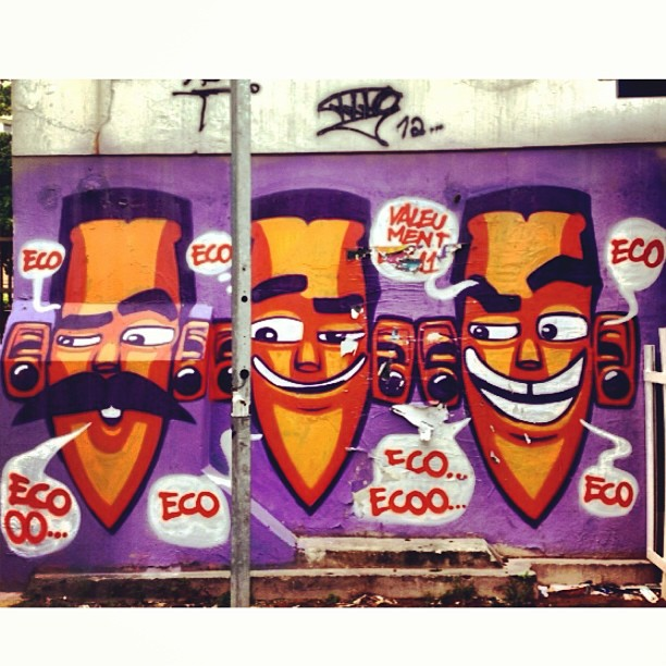 One of my favorite Graffiti artists @marceloeco , Botafogo Rio