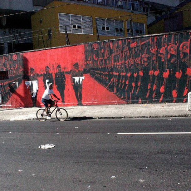 Arte censurada no Sérgio Porto no Humaitá. Foi apagado no dia 8 de julho de 2013. #StreetArtRio