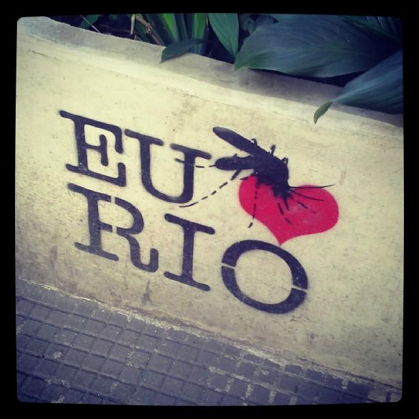 Pessoal acho a street art muito legal e qd se usa a arte para informar, com humor e ao mesmo tempo com criatividade fica tudo mais fácil! Lembrando que no verão o Aedes aparece aqui no RJ.