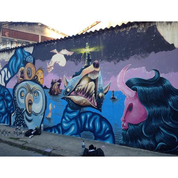 Continuação de ontem, tá quase lá.. @heitorcorrea64 @joaomazza @igorsrcnunes #art #pedrojardim #novecinco #streetart #streetartrio #riodejaneiro #rj #wall