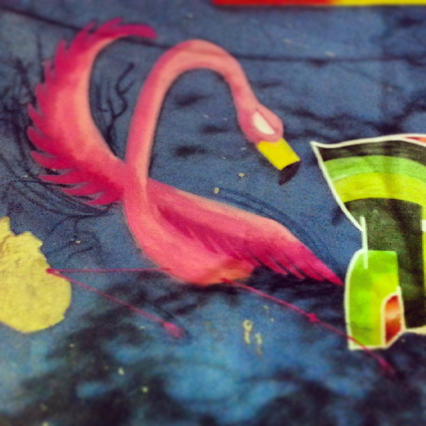 Flamingo como? Bolado! #flamingo #fight #rafa #graffrio #graffiti #grafite #rosa