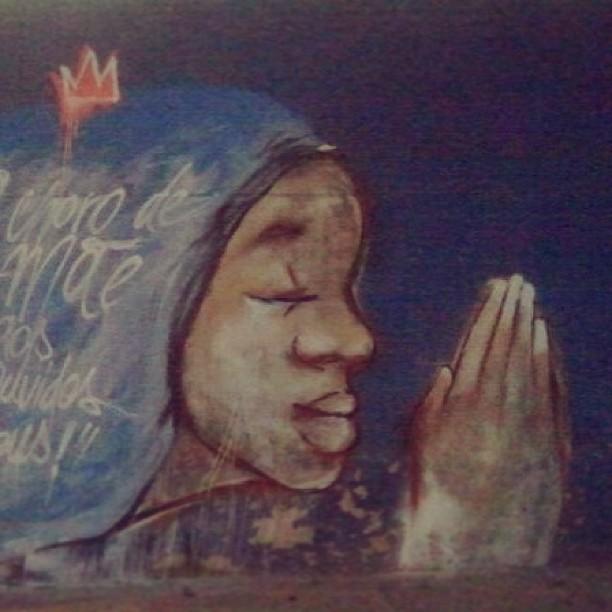 N.sra. Nêgah da Conceição #streetartrio #ilpe77 #nsraconceicao #nega #grafitti #art #morrodaconceição