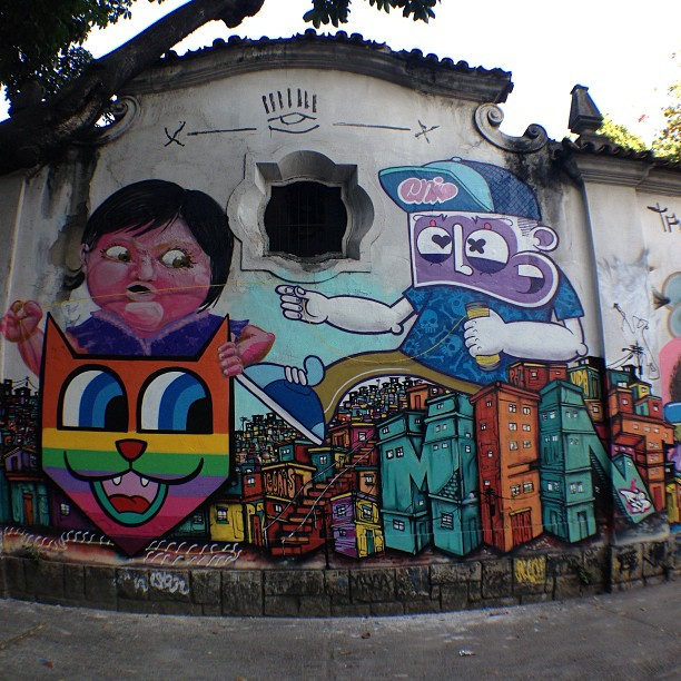 Produção com bons amigos ontem, #nitcho @chivitz @minhau_sp no #jardimbotanico #riodejaneiro #saopaulo #rjgraffiti #rjstreetart #streetartrio #graffitilife #graffitilovers #graffitilegends #graffiti #mentone #marceloment #chivitz #minhau #freehand #freestyle #spraypaint #art #instagrafite