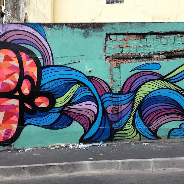 Repost @mga021 e @brunobig no Morro do Vidigal 2013 #streetartrio
