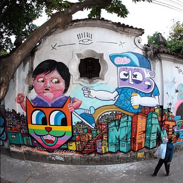 #repost @chivitz a better pic, with #nitcho and @minhau_sp always good meet good friends! #freestyle #freehand #spraypaint #graffiti #graffitilife #graffitilovers #graffitilegends #instagrafite #rj #riodejaneiro #rio #jardimbotanico #streetartrio #rjgraffiti #rjstreetart #mentone #marceloment #chivitz #minhau #joaonitcho @instagrafite