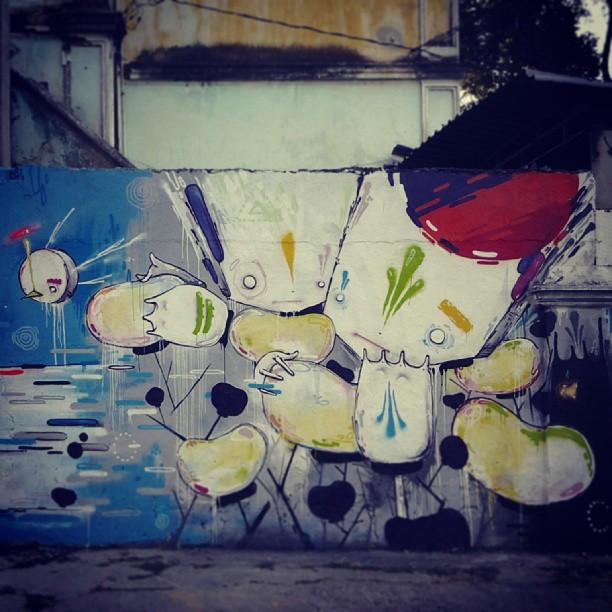 01 de 04 #graffrio #rua #bunys #novecinco #streetartrio #tujaviu #bentoribeiro #marciobunys #joao #pipow #fragmentosemsentimentos #bemvsmal
