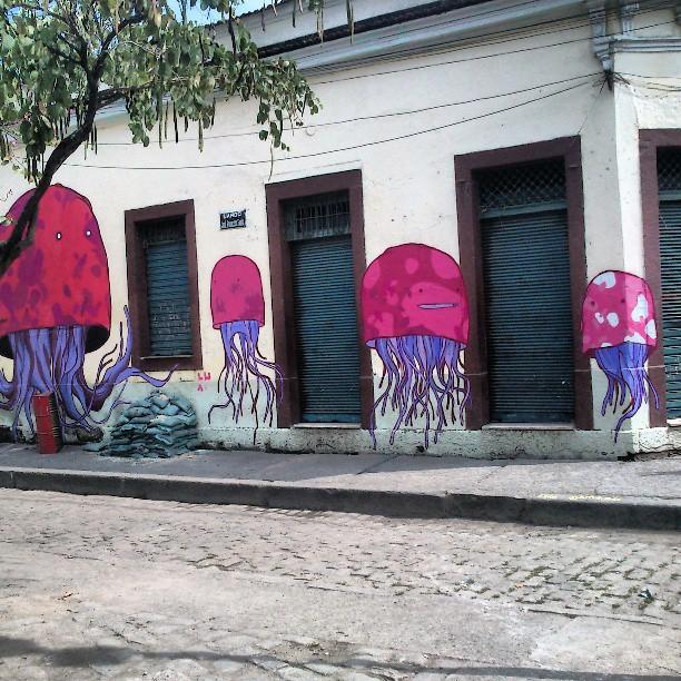 Adorei esses! #jellyfish #StreetArtRio