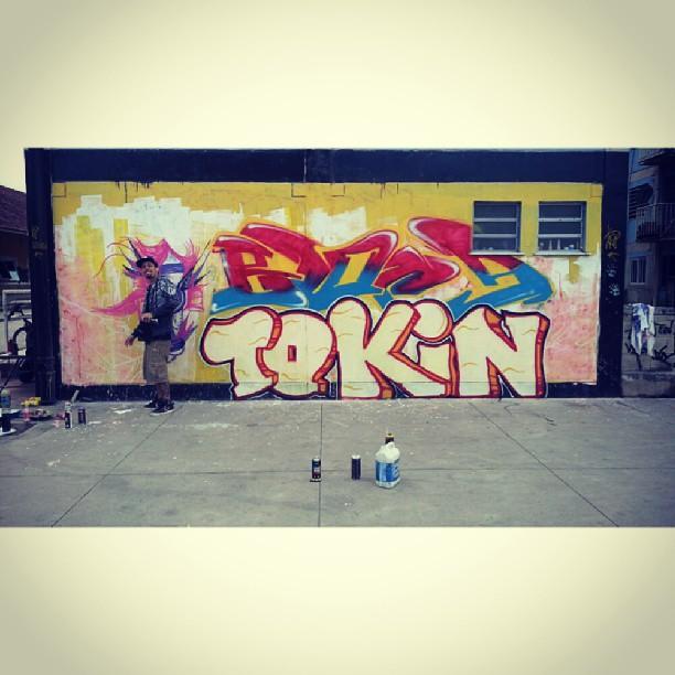 BLOPA◆TOKIN◆SPAM (Com seus 473 dentes, rs) @viniciusspam #Graffiti #GraffitiRJ #GraffitiBrasil #GraffitiArt #Street #StreetArtRio #StreetArt #spray #Rua #Rap #RJ #HipHop #Humildade #RioDeJaneiro #FreeHand #LoveLetters #art #Amor #FreeStyle #Blopa #Letters #Life #color #Canvas #carioca #Instagraffiti #SprayArt