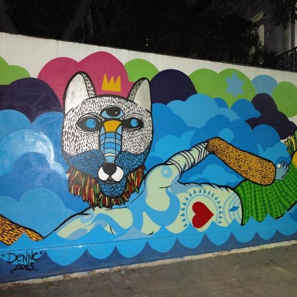 Cat Mermaid #denne72 #streetartrio #streetart #laranjeiras #grafitti #graffiti