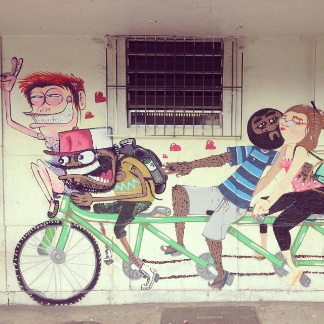 Click do #streetartrio painel junto com meu amigo #nhobi la em Vila Isabel