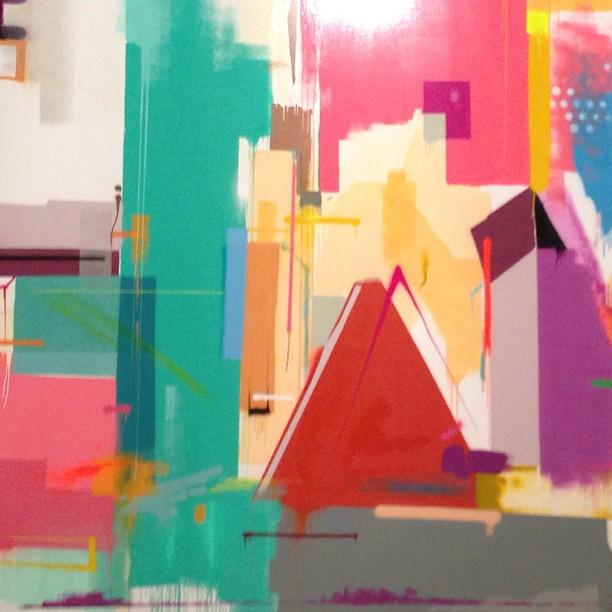 Curto mt o trabalho do SWK @marcioswk e tô in love com essa obra pra #artrua2013  #abstract #graffitiart #grafitte #graffiti #abstrato #streetartist #streetartrio #graffitibrasil #festivalartrua