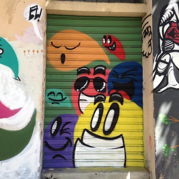 Detalhe muro de ontem