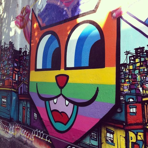 E ainda há quem compare grafite à pixação...