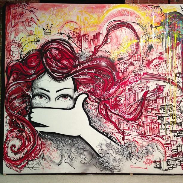 Left side... #spraypaint #freestyle #freehand #streetartrio #rj #riodejaneiro #rio #graffiti #graffitilife #graffitilovers #mentone #marceloment #artrua