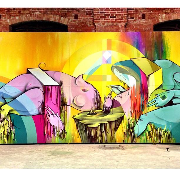Work by @digitalorganico at @festivalartrua 2013