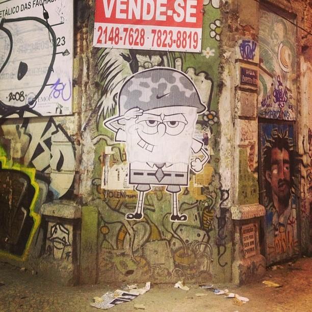 #ocupalapa #coletivografico #spongebob #squarepants #lambelambe #streetartrio