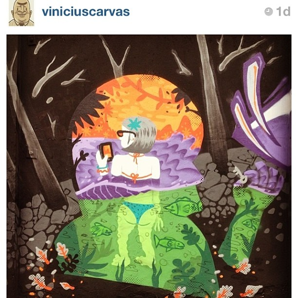 por @viniciuscarvas #graffiti #streetartrio #art #carvas #colors