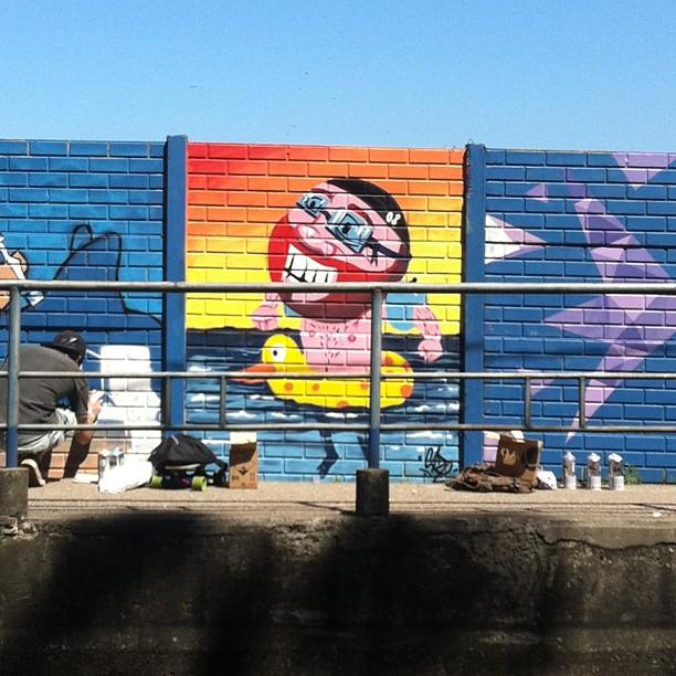 #streetartrio #vidigal #nado #pato #caze #beach