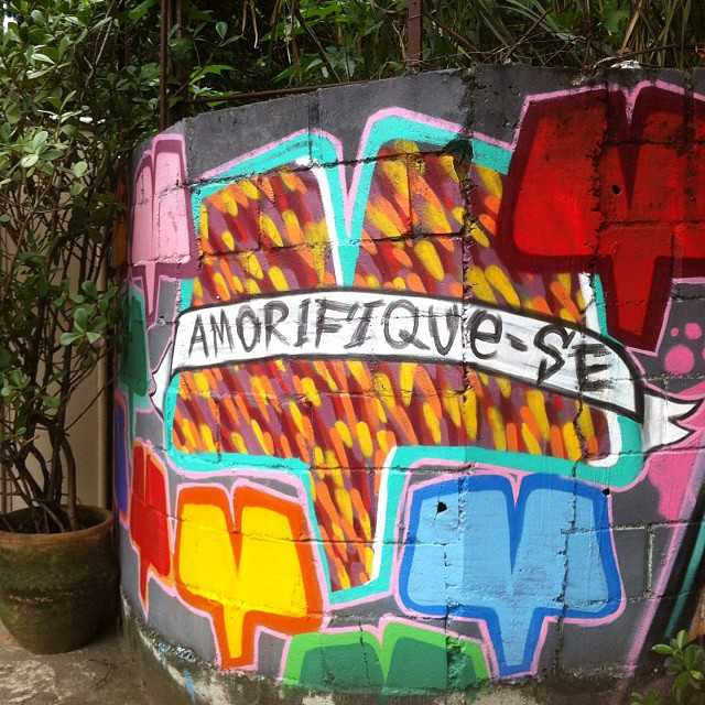 Amorifique-se #arteurbana #streetart #streetartrio #art #arte #amor #graffiti #gavea #altogavea #intervencao #rio #euamoeucuido #riodejaneiro #rioetc #tonoadorofarm