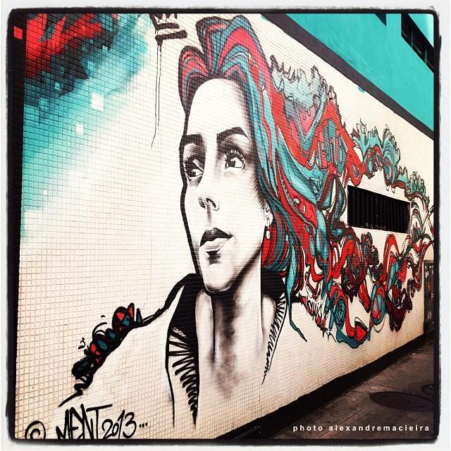 Arte de Rua do Ment na rua Humaitá com rua João Affonso - Rio de Janeiro. Valeu @marceloment, esse ficou demais!! | Photo: Alexandre Macieira