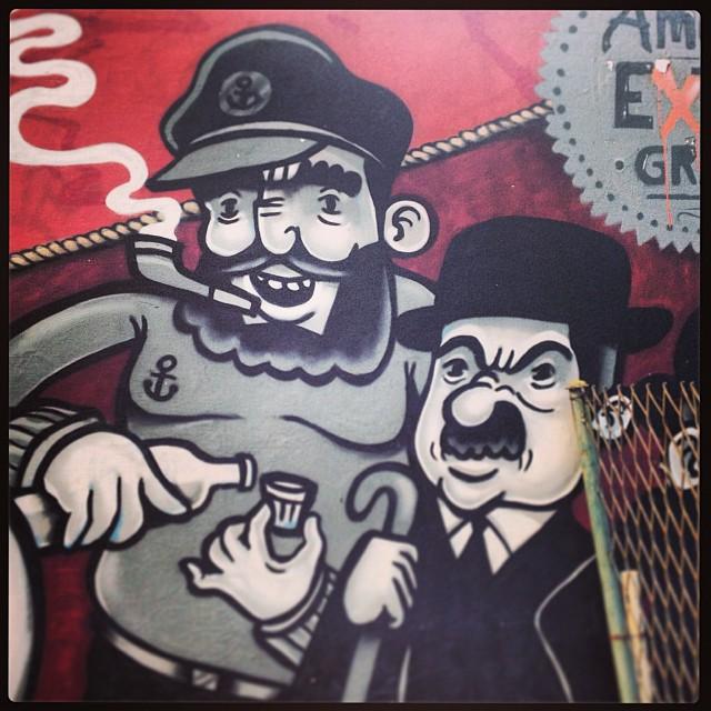 Capitão Haddock & Dupond AEG 2012 #tintim #carvas #streetartrio