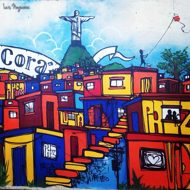 Detalhe da pintura de Marcelo Ment e Thiago Tarm no Cerro Corá, RJ