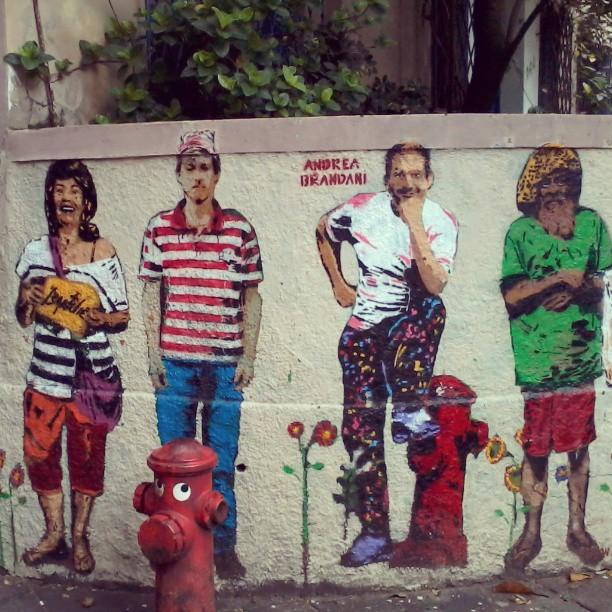 Ipanema most famous. Work by: Andrea Brandani #streetartrio #streetartbrasil #stencil #stencilrj #ipanema #stencilbrasil #rsa_graffiti #urbanart #streetartistry