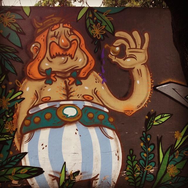 Obelix #streetartrio #carvas #obelix