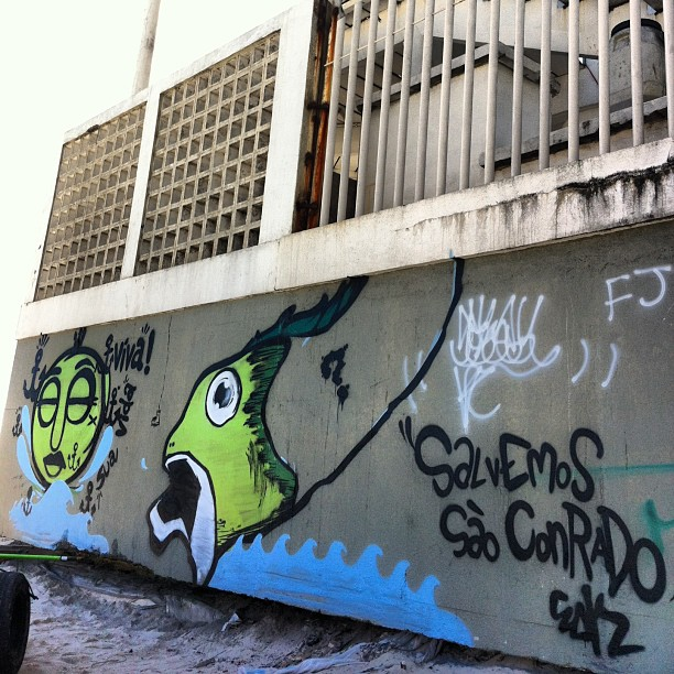 Salvemos São Conrado !!! Manha de hj com meu amor @paulinhalka