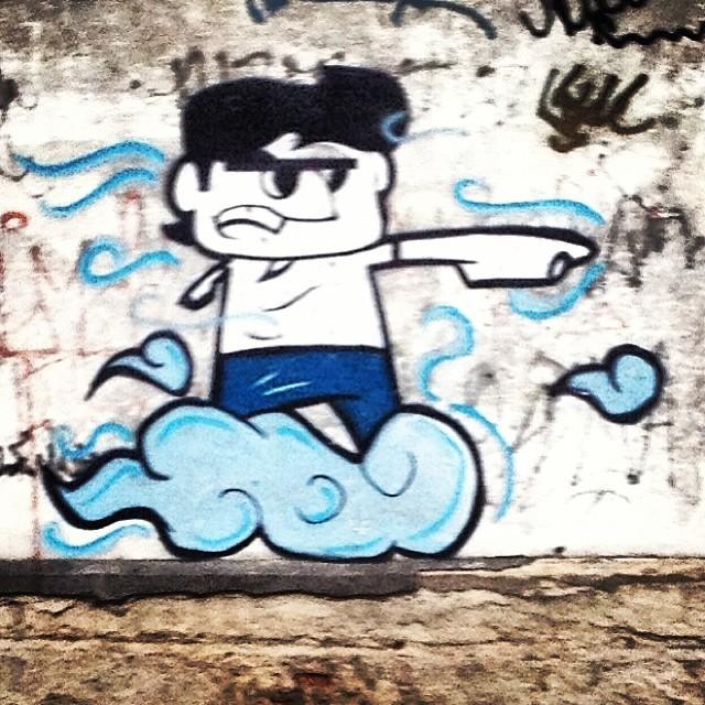 Uma graça! #grafite #graffrio #murosdorio #artelivre