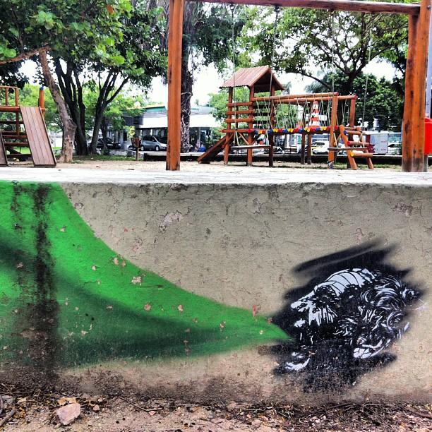 Work by #natastencilarte | Lagoa - Rio de Janeiro