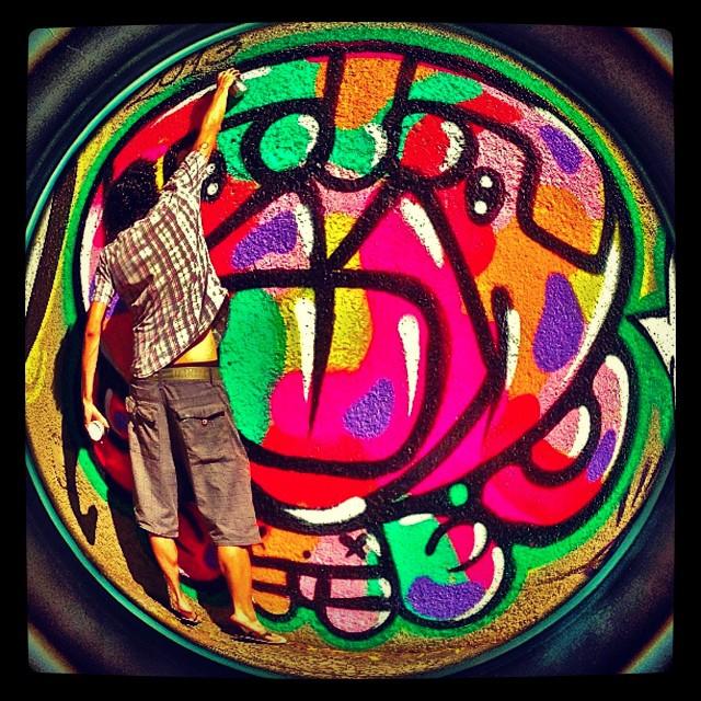 #djonereal @marygirlstyle #sockppxi #streetartrio #graffiti #refresh #humaita