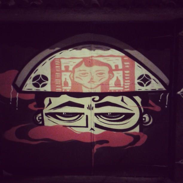 in the middle of the night ... #night #noite #freguesia #memi #tirol #streetart #art #arte #grafitti #comosercarioca #registrocarioca #rj
