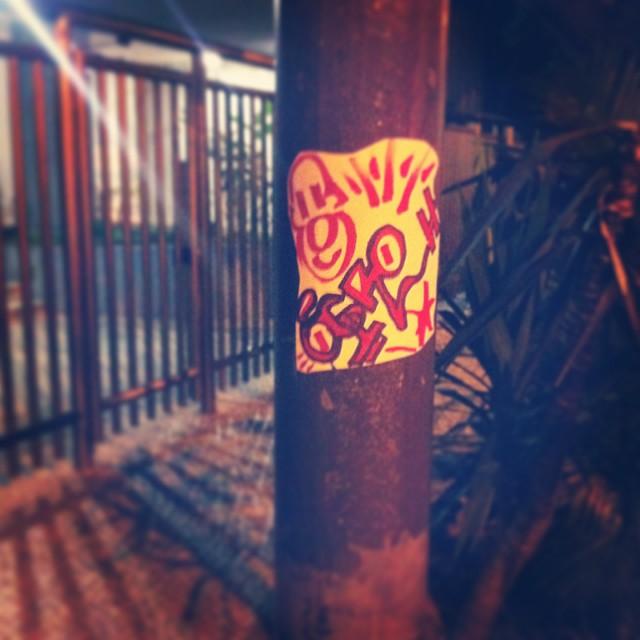 #ogro #rjstickers #brasilstickers #ilovemarkers #ilovestickers #handstyle #urbanart #artederua #arteurbana #streetart #stickers #streetartrio #graffrio