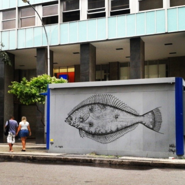 Centro do Rio de Janeiro . #streetartrio #ilovfish
