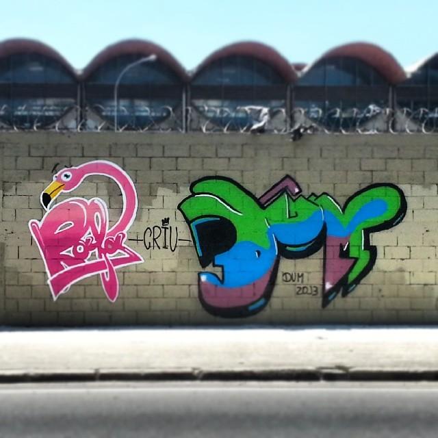 Com @edupoley Aonde a gente tem que estar. Na rua! #CRIU #rafa #dum #graffiti #graffrio #flamingo #grafite #centro #streetartrio