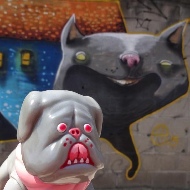 I'm standin' here. You make the move. #youtalkintome #tosakenta #yukinoridehara #dehara #tosainu #japanesetosa #fightingdog #heitorcorrea #libreestudio #coletivoconsciente #urbanart #streetart #artederua #arteurbana #streetartrio #riostreetart