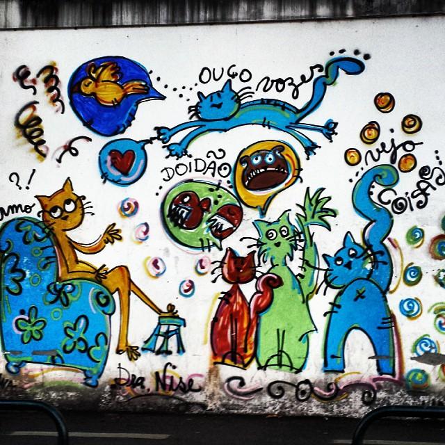 No muro do hospital psiquiátrico Nise da Silveira. Um dos meus favoritos!