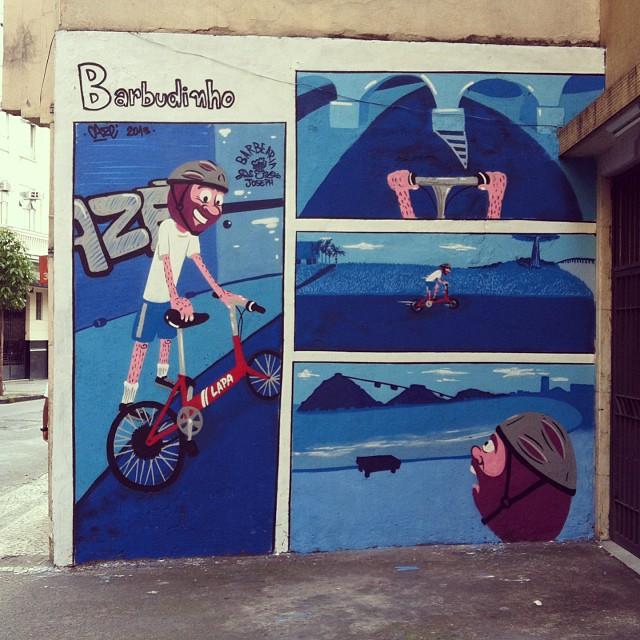 Primeiro quadrinho individual, painel completo. #streetcomics #barbudinho #quadrinhos #lapa #streetartrio #instagrafite