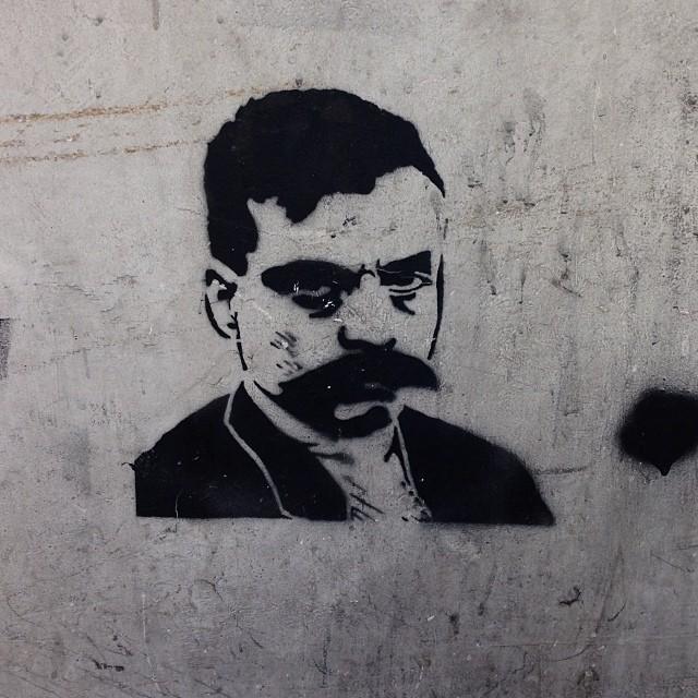 Stencil or graffiti art the corner of Rua Bento Lisboa & Rua Dois de Dezembro. #graffiti #art #streetart
