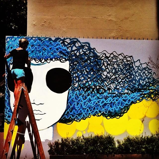 Tomando forma na parede #arte #art #arteurbana #streetart #streetartrio #rio #euamoeucuido #riodejaneiro #rj #rioetc #graffiti #tonoadorofarm